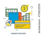 concept of payment methods.... | Shutterstock .eps vector #475815553