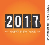 happy new year 2017 timetable ... | Shutterstock .eps vector #475842337