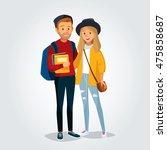 vector students  | Shutterstock .eps vector #475858687