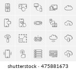 technology sketch icon set for... | Shutterstock .eps vector #475881673