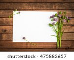 Wildflowers With Blank Paper...