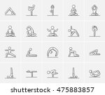 yoga sketch icon set for web ... | Shutterstock .eps vector #475883857