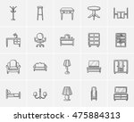 furniture sketch icon set for... | Shutterstock .eps vector #475884313