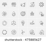 ecology sketch icon set for web ... | Shutterstock .eps vector #475885627