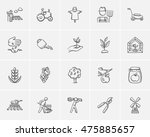 agriculture sketch icon set for ... | Shutterstock .eps vector #475885657
