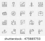business sketch icon set for... | Shutterstock .eps vector #475885753