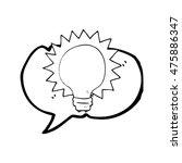 freehand drawn speech bubble... | Shutterstock . vector #475886347