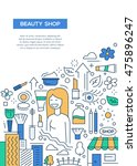 beauty shop   vector line... | Shutterstock .eps vector #475896247