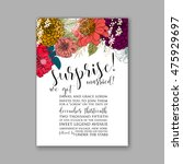 wedding invitation or card with ...   Shutterstock .eps vector #475929697