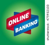 online banking arrow tag sign. | Shutterstock .eps vector #475932103