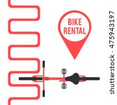 bike rental. flat vector... | Shutterstock .eps vector #475943197