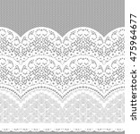seamless vector white lace... | Shutterstock .eps vector #475964677