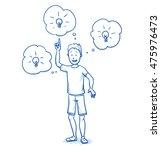 happy young boy having ideas ... | Shutterstock .eps vector #475976473