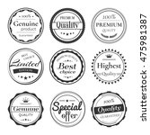 vector set of retro badges and... | Shutterstock .eps vector #475981387