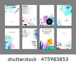 hand drawn universal art.... | Shutterstock .eps vector #475983853