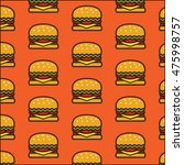cheeseburger pattern background | Shutterstock .eps vector #475998757