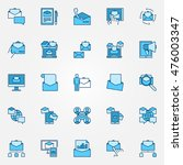 email marketing blue icons....