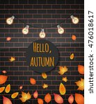 hello autumn. vector... | Shutterstock .eps vector #476018617