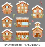 set of cute vector holiday... | Shutterstock .eps vector #476018647