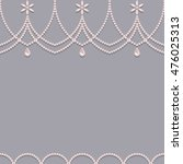 seamless pink pearl ornament...   Shutterstock .eps vector #476025313