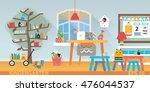 kindergarten education interior.... | Shutterstock .eps vector #476044537