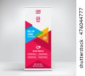 banner roll up design  business ... | Shutterstock .eps vector #476044777