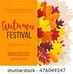 autumn festival background.... | Shutterstock .eps vector #476049247
