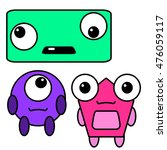 cute monsters set | Shutterstock . vector #476059117