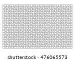 jigsaw puzzle template 1000... | Shutterstock .eps vector #476065573