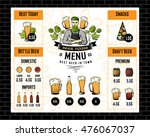 beer pub menu with brewer... | Shutterstock .eps vector #476067037