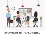 scenes of people working in the ... | Shutterstock .eps vector #476078863