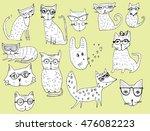 set of stylized animals....
