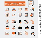 seo optimization icons | Shutterstock .eps vector #476095087