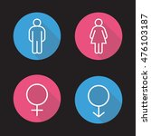 gender symbols. flat linear... | Shutterstock .eps vector #476103187