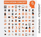 education icons | Shutterstock .eps vector #476105047