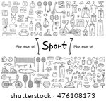 vector set with hand drawn... | Shutterstock .eps vector #476108173