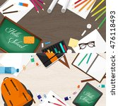 back to school. flat style.... | Shutterstock . vector #476118493