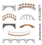 Stock vector different bridges isolated on white silhouette vector illustration bridges objects for games 476118877