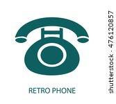 retro phone  icon | Shutterstock .eps vector #476120857