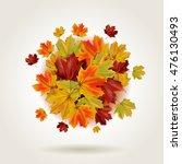 Autumn Colorful Maple Leaves I...