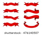 ribbon vector icon set red... | Shutterstock .eps vector #476140507