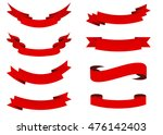 ribbon vector icon set red... | Shutterstock .eps vector #476142403