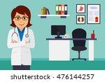 medical office. female doctor...   Shutterstock .eps vector #476144257