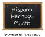 hispanic heritage month written ... | Shutterstock . vector #476145577