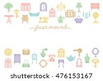 house moving greeting card.... | Shutterstock .eps vector #476153167