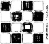 set of brush stroke squares.... | Shutterstock .eps vector #476160307