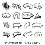 set of arrow doodle isolated on ... | Shutterstock .eps vector #476165347