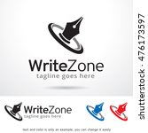write zone logo template design ... | Shutterstock .eps vector #476173597