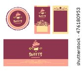 cake and sweet shop logo.... | Shutterstock .eps vector #476180953