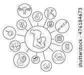 pregnancy and birth...   Shutterstock . vector #476184673